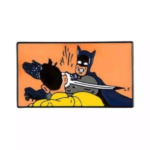 4/$20 Batman Slapping Robin Enamel Brooch Pin